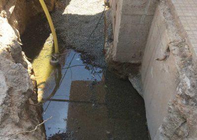 Grundwasser beim Austritt