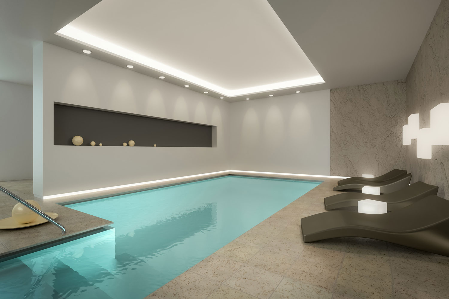 Construction of swimming pools Indoor