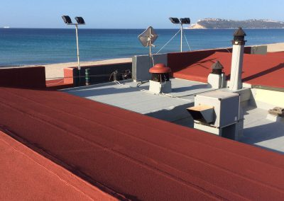Protection and waterproofing of roof slab
