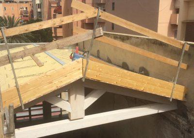 Fase realizzazione tetto