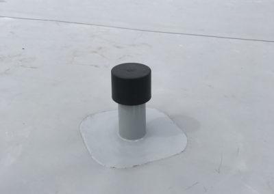 Dettaglio impermeabilizzazione con manto sintetico